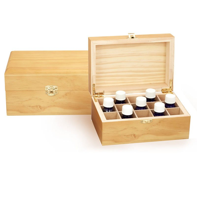 WOODEN OIL STORAGE BOX - 15 COMPARTMENT