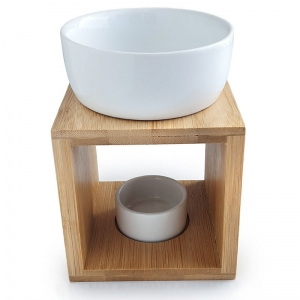 CERAMIC & WOODEN SQUARE OIL BURNER