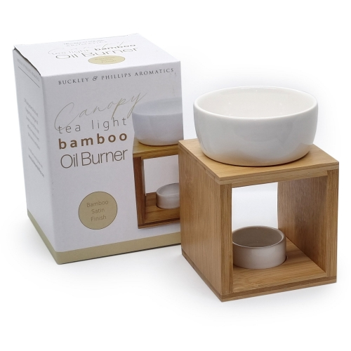 CERAMIC & BAMBOO SQUARE OIL BURNER