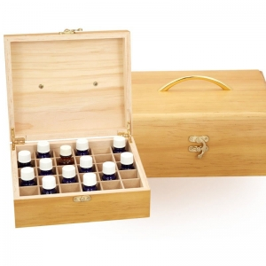 WOODEN OIL STORAGE BOX - 30 COMPARTMENT