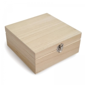 WOODEN OIL STORAGE BOX - 25 COMPARTMENT MEDIUM