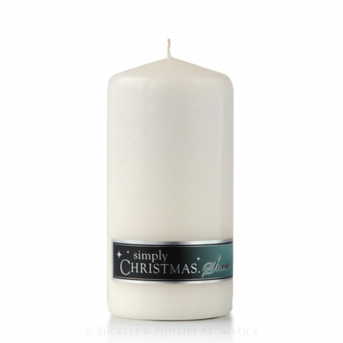 CHRISTMAS SNOW PILLAR CANDLE