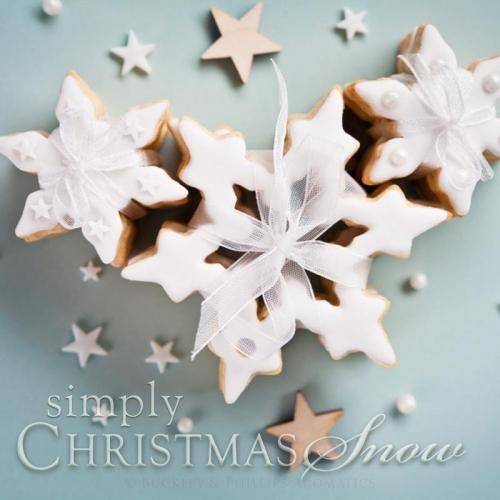CHRISTMAS SNOW PILLAR CANDLE