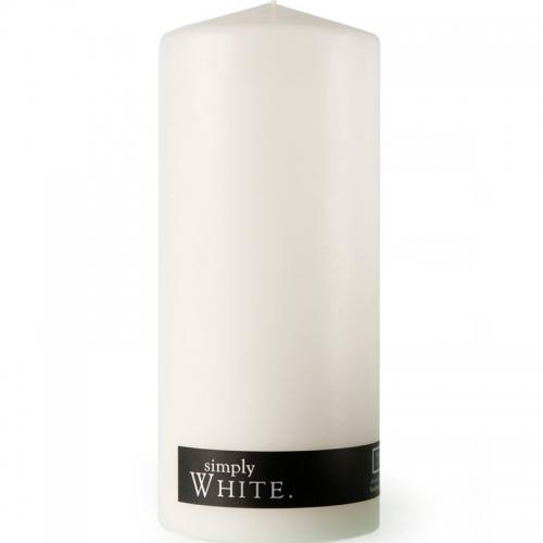 WHITE PILLAR CANDLE XLARGE