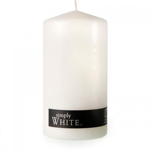 WHITE PILLAR CANDLE LARGE