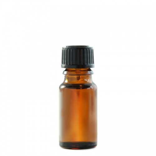 10ML AMBER BOTTLE WITH BLACK CAP