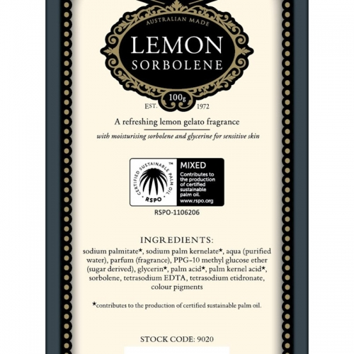 LEMON SORBOLENE SOAP (SINGLE)