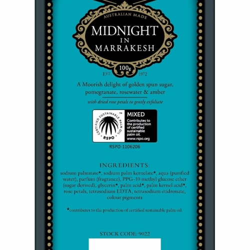 MIDNIGHT IN MARRAKESH SOAP (SINGLE)