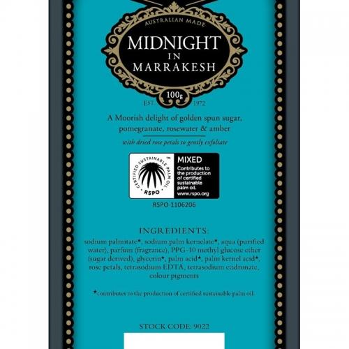 MIDNIGHT IN MARRAKESH SOAP (SINGLE)